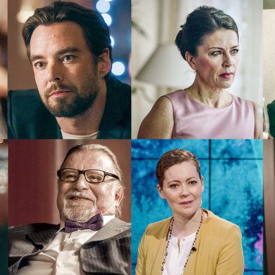 Kuvakokoelma Presidentti-sarjan näyttelijöistä rooleissaan.