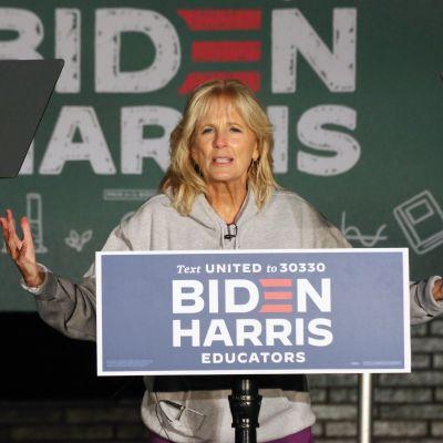 Jill Biden, värdinna för ett utbildningsevenemang 30.10.2020