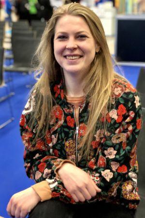 Johanna Ekman i publiken på Educa-mässan.
