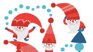Pikku Kakkonen: tulostettavat joulutontut