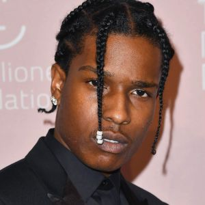 Arkivbild på rapartisten ASAP Rocky från den 13 september 2018 i New York.