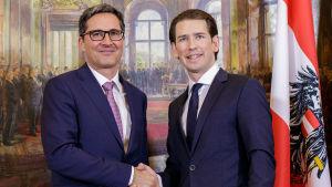 Sebastian Kurz och Arno Kompatscher.
