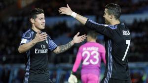 Cristiano Ronaldo, James Rodriguez.