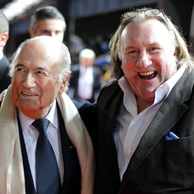 Sepp Blatter och Gerard Depardieu, 2012.