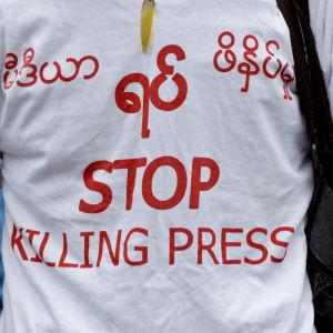Journalist i Myanmar kämpar för pressfrihet.