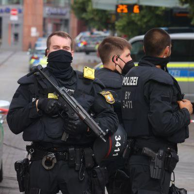Polisinsatsen i Würzburg.