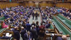 Det brittiska parlamentet röstade om brexit den 14 mars 2019.