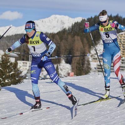 Krista Pärmäkoski, Sadie Maubet Bjornsen ja Francesca Franchi