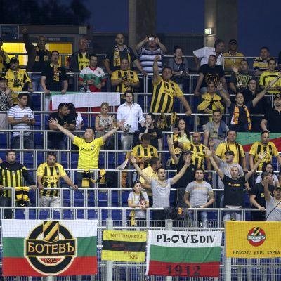 Botev Plovdivin kannattajia.