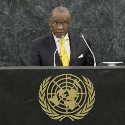 Premiärminister Thomas Thabane vid FN:s generalförsamling i september 2013