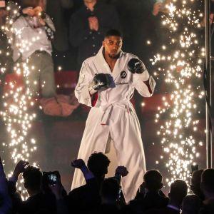 Inramningen inför Anthony Joshuas match mot Joseph Parker var spektakulär.