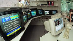 Teksti tv:n urheilutoimituksen tila. 1999