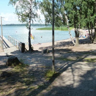 Munksnäs badstrand i Helsingfors. Juli 2014.