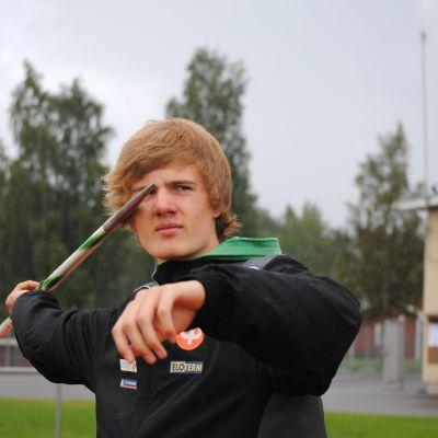 Spjutkastare Oliver Helander, IF Raseborg.