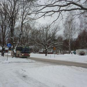 Ingå kyrkby en vinterdag
