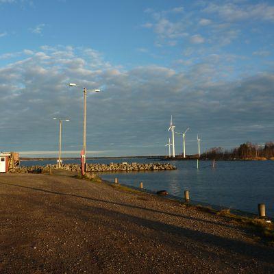 Vindkraftsparken i Molpe i Korsnäs.