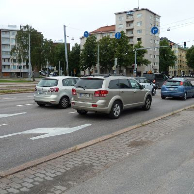 Bilar i Munksnäs