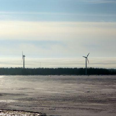 Vindkraftverken på Bredskär i Korsnäs
