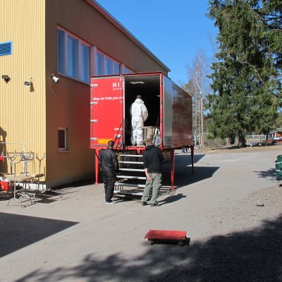 Flytt av Merituulen koulu i Ingå
