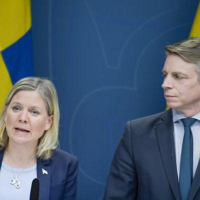Magdalena Andersson ja Per Bolund
