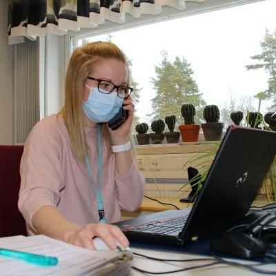 koronajäljittäjä, sairanhoitaja Miia Tanskanen, Kymsote