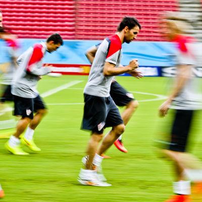 Kroatien värmer upp inför Mexicomatchen i fotbolls-VM 2014