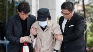 Katastroffärjans rederichef grips i Sydkorea.