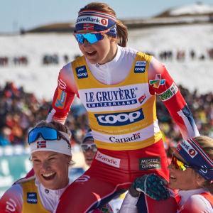 Ingvild Flugstad Østberg hyllas av sina norska lagkamrater.