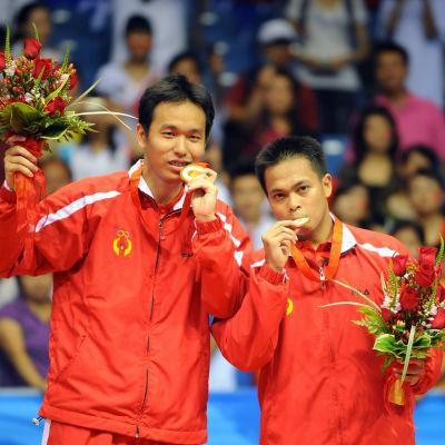 Hendra Setiawan ja Markis Kido (oik.) Pekingin olympialaisissa 2008.