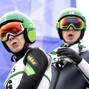 Eero Hirvonen och Ilkka Herola i VM i Lahtis.