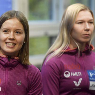 Susanna Forsström (vas.) ja Julia Kykkänen
