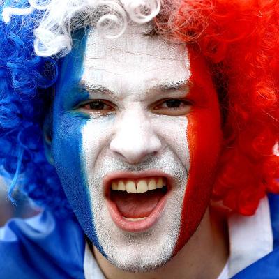 Fransk fotbollssupporter.