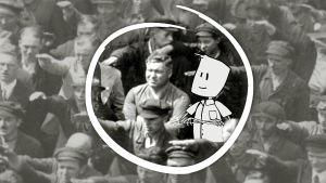 Yksi ei osallistu natsitervehdykseen muiden mukana