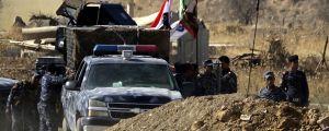 Militär utanför Kirkuk i Irak.