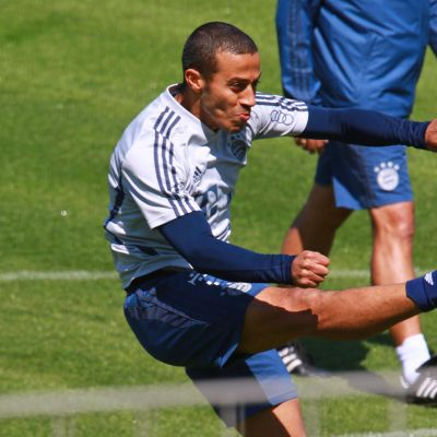Thiago Alcantara harjoituksissa.