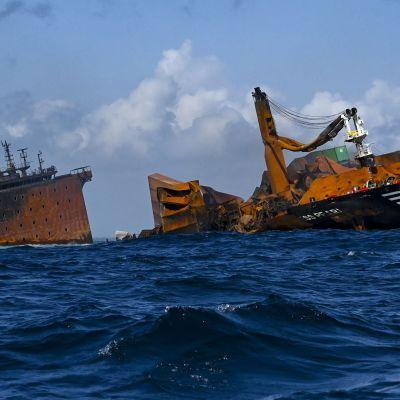 fartygsolycka utanför Sri Lanka