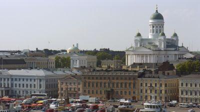 Salutorget med Helsingfors domkyrka