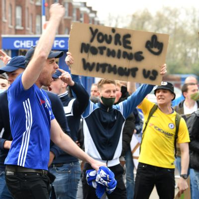 Chelsean kannattajia