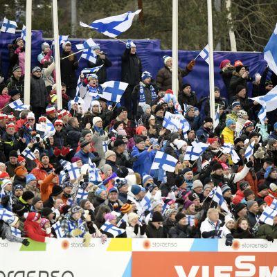 Stämningen i Lahtis skidstadion var på topp under hela VM.
