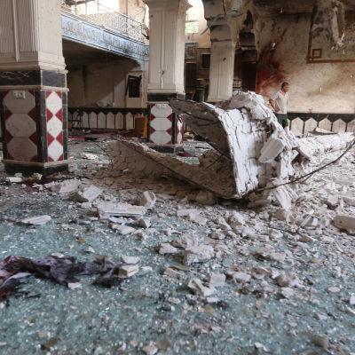 Över 20 personer dödades i en självmordsbombning i den här moskén den 1 augusti 2017.