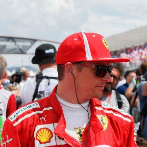 Charles Leclerc och Kimi Räikkönen i det franska Grand Prix:t.