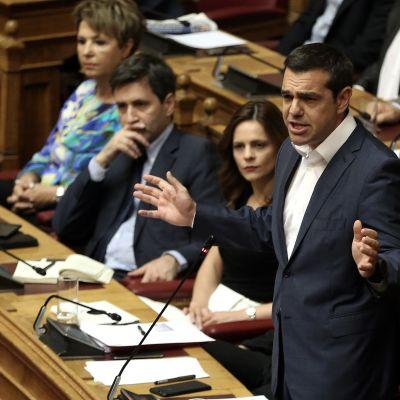 Kreikan pääministeri parlamentissa