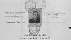 Läkaren Walter Cohen, en av dem som nästan blev utvisade den 6 november 1942.