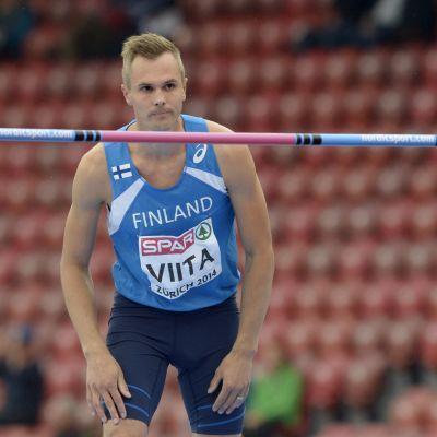 Jussi Viita klarade 219 i höjdkvalet vid EM i Zürich.