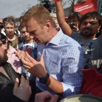 Aleksei Navalnyi Moskovassa 5.5.2018.