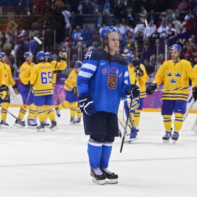 Mikael Granlund, Finland-Sverige, OS-semi, Sotji 2014