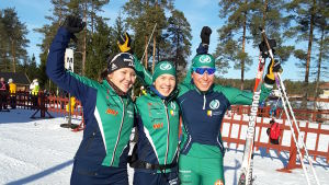 Linnea Halonen, Linnea Henriksson och Jennifer Antell Femmans gulddamer.