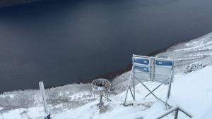 Övervakningsutrustning på Åknesfjället i västra Norge