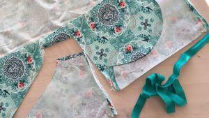 Kankaan leikkaaminen alushousujen ompeluun