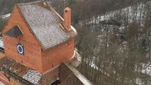 Borgen i Turaida började byggas år 1214.
